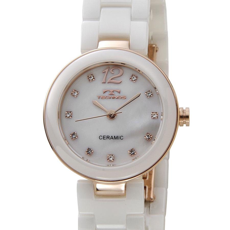 テクノス レディース 腕時計 TECHNOS TSL613PW セラミック 日本製ムーブメント ホワイト P10SP