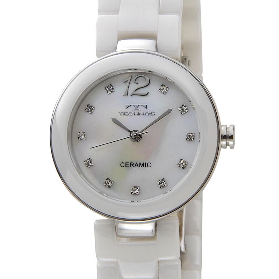 テクノス レディース 腕時計 TECHNOS TSL613TW セラミック 日本製ムーブメント ホワイト P10SP
