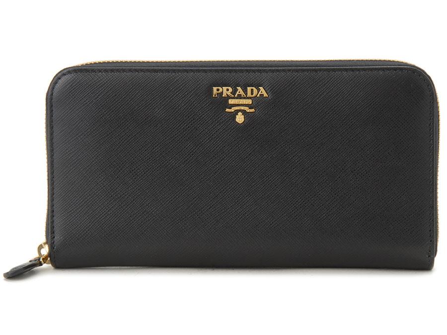 SP プラダ 長財布 PRADA 1ML506 QWA F0002 サフィアーノ ラウンドファスナー NERO ネロ ブラック