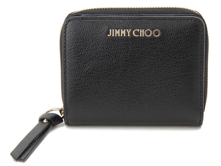 ジミーチュウ 二つ折り財布 JIMMY CHOO REGINA GRZ BK コンパクト財布 ブラック P10SP