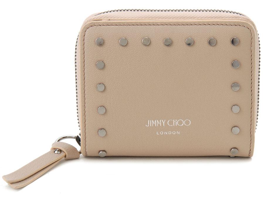 ジミーチュウ 二つ折り財布 JIMMY CHOO REGINA GRZ BALLPK タッズ コンパクト財布 ピンク 新品