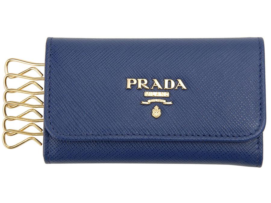 プラダ キーケース PRADA 1PG222 QWA F0016 サフィアーノ BLUETTE ブルーエット メンズ/レディース 新品 【送料無料】