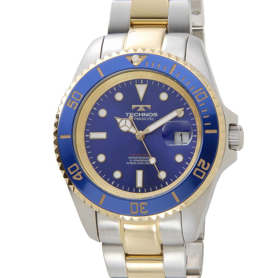 テクノス ダイバーズ メンズ 腕時計 TECHNOS TSM402TN クオーツ ブルー 新品