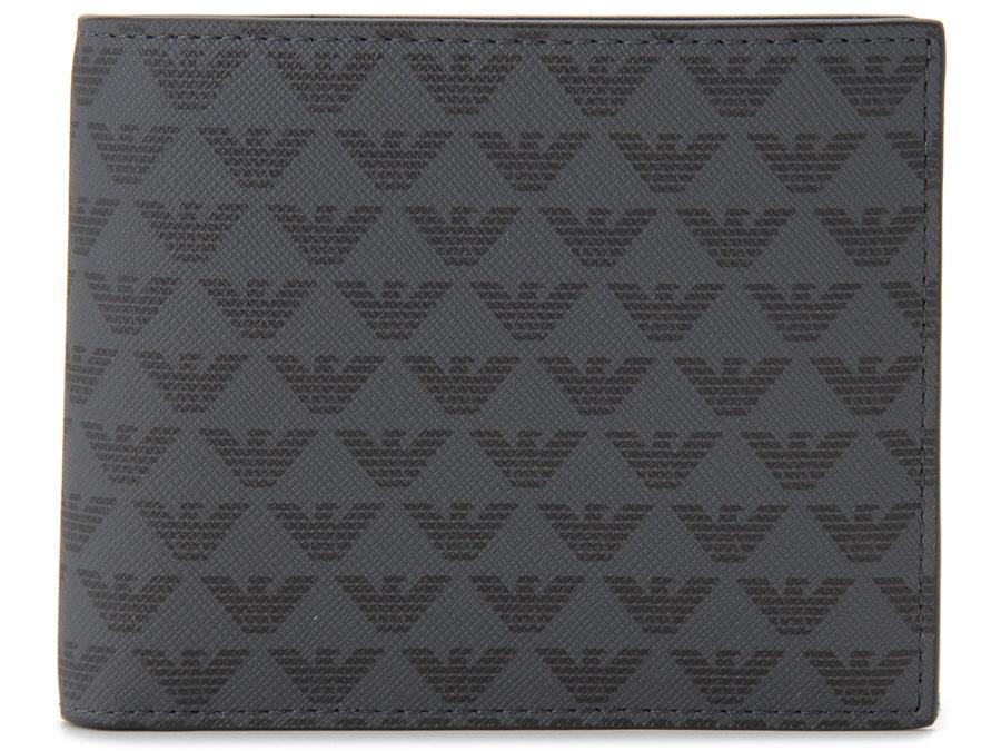 エンポリオ アルマーニ EMPORIO ARMANI 二つ折り財布 Y4R065 YG91J 81072 ブラック メンズ 財布 P10SP