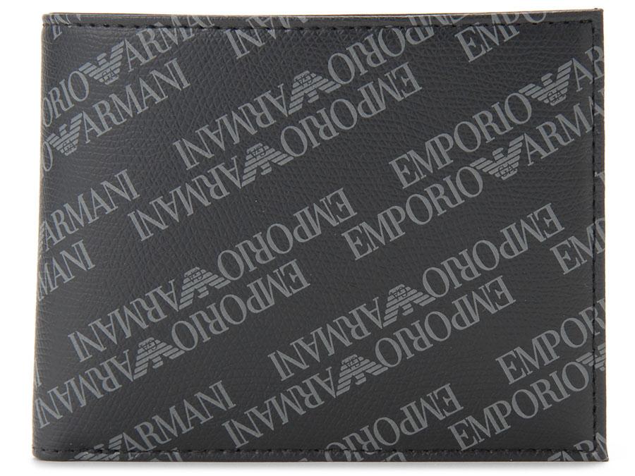 エンポリオ アルマーニ EMPORIO ARMANI 二つ折り財布 Y4R165 YLO7E 86526 ブラック メンズ 財布 新品