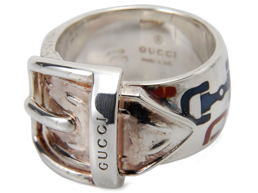 訳あり 細かい汚れ グッチ シルバー リング 指輪 149299 J89L0 4768 13号 新品 【送料無料】