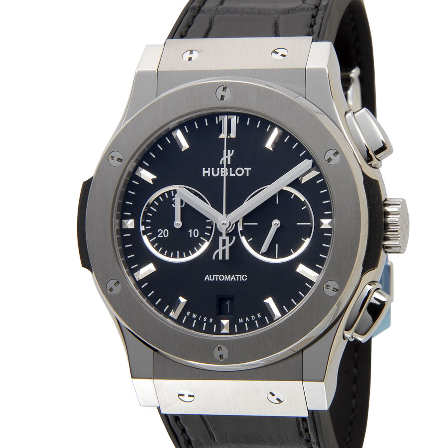 ウブロ HUBLOT クラシック フュージョン クロノグラフ チタニウム 541.NX.1171.LR ブラック メンズ 腕時計 新品 当店2年保証