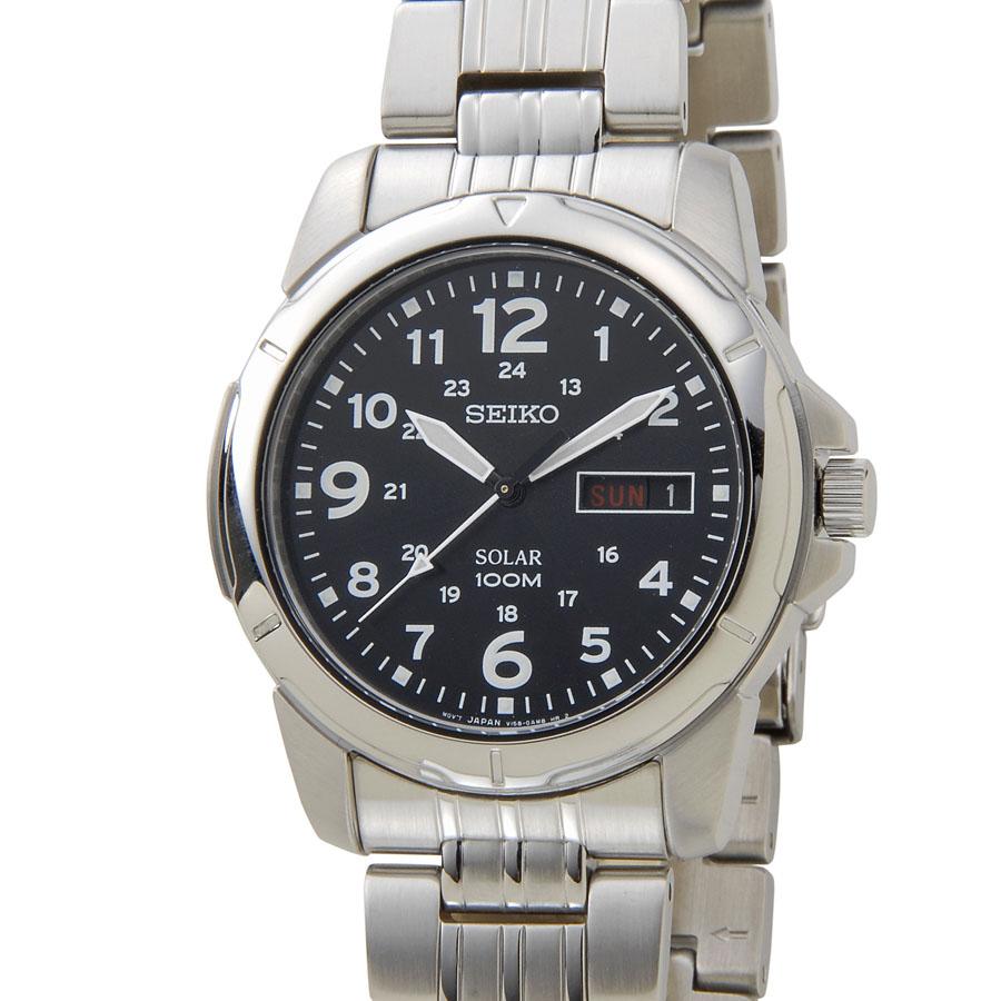 セイコー SEIKO メンズ 腕時計 SNE095P1 ブラックダイアル 海外モデル 新品