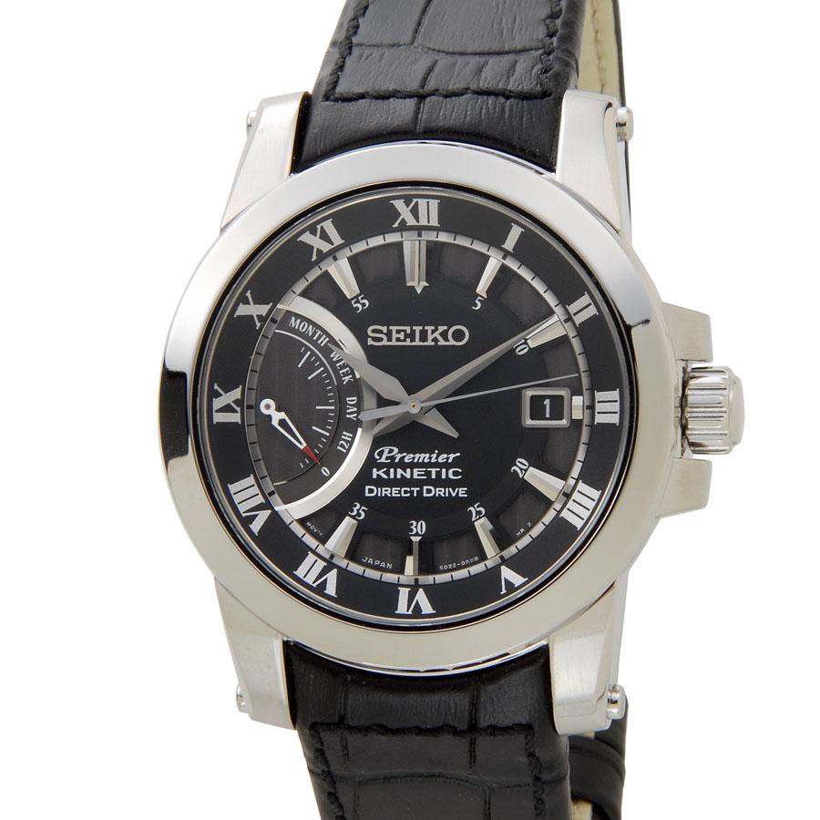 セイコー SEIKO メンズ 腕時計 SRG009P2 PREMIER プレミア キネティック ブラック 新品