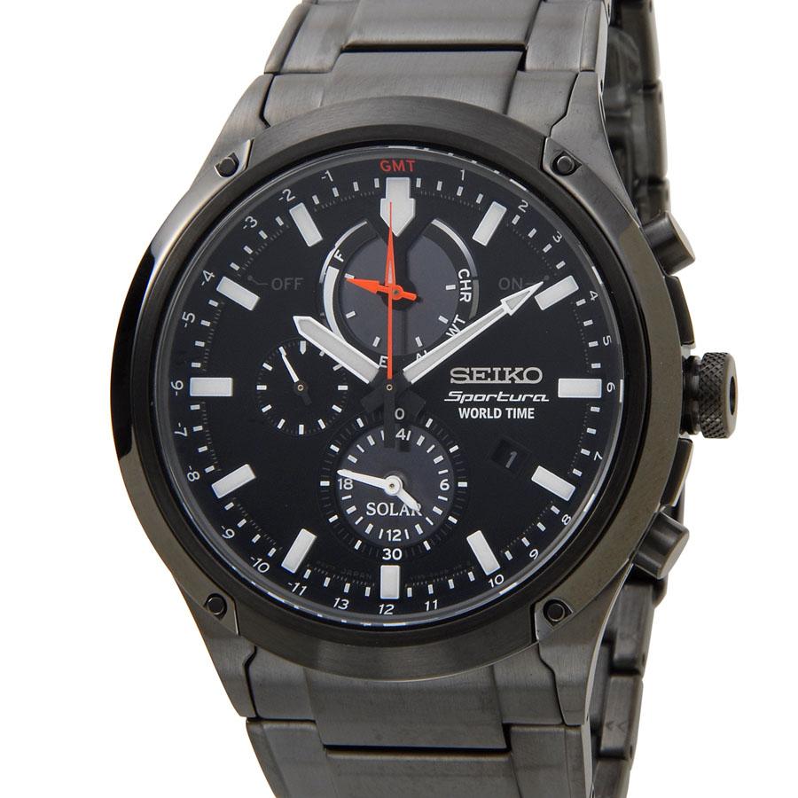 セイコー SEIKO 腕時計 SSC481P1 スポーチュラ ソーラー SPORTURA SOLAR クロノ クオーツ ブラック メンズ 時計 新品 【送料無料】 [ポイント5倍キャンペーン][8/3~8/17]