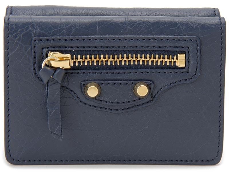 バレンシアガ BALENCIAGA 財布 477455 D940G 4030 CLASSIC MINI クラシック ミニ ブルー 三つ折り財布 新品 【送料無料】