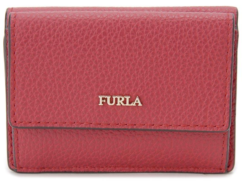 フルラ FURLA 三つ折り 財布 962288 BABYLON バビロン コンパクト 財布 レッド レディース