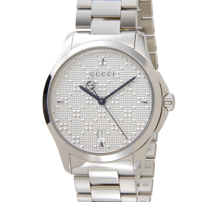 グッチ GUCCI 時計 YA1264024 Gタイムレス シルバー ユニセックス メンズ レディース 腕時計 新品 [ポイント5倍キャンペーン][8/3~8/17]