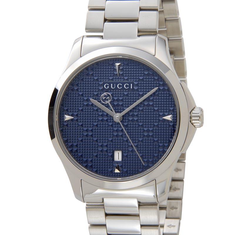 グッチ GUCCI 時計 YA1264025 Gタイムレス ブルー ユニセックス メンズ レディース 腕時計 新品 【送料無料】 [ポイント5倍キャンペーン][8/3~8/17]