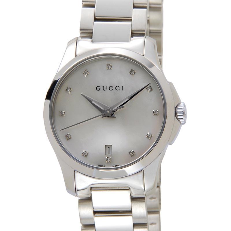 グッチ GUCCI 時計 YA126542 G-Timeless Gタイムレス ホワイトシェル レディース 腕時計 新品 [ポイント5倍キャンペーン][8/3~8/17]
