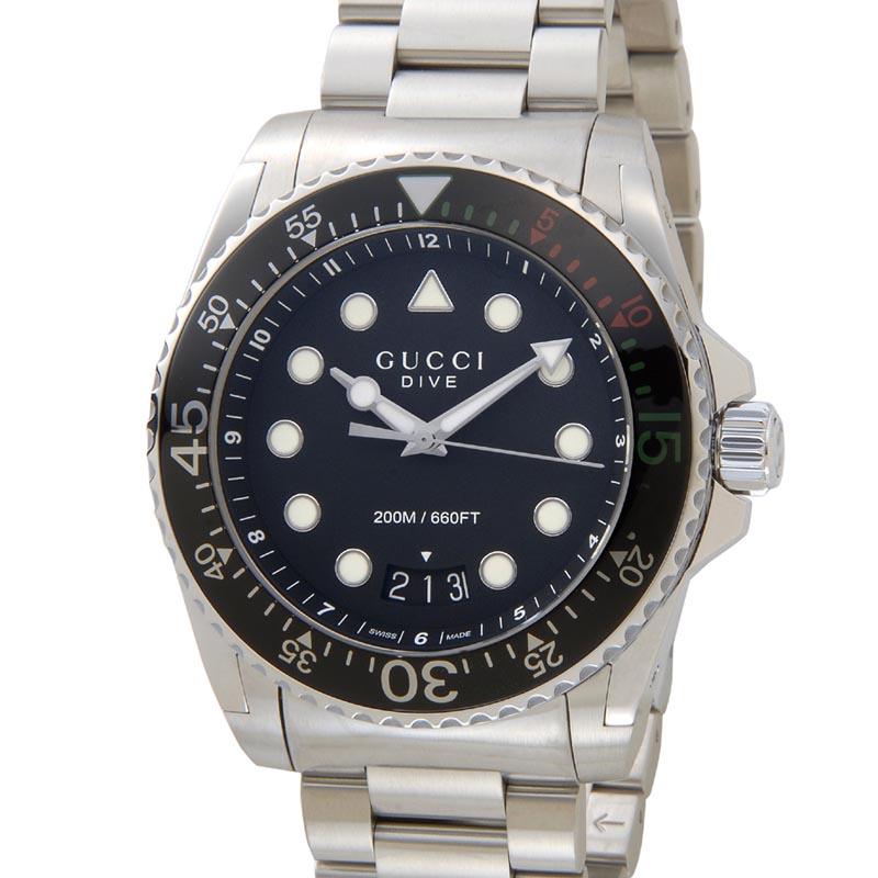 グッチ GUCCI 時計 YA136208 Swiss Dive ダイブ ブラック メンズ 腕時計