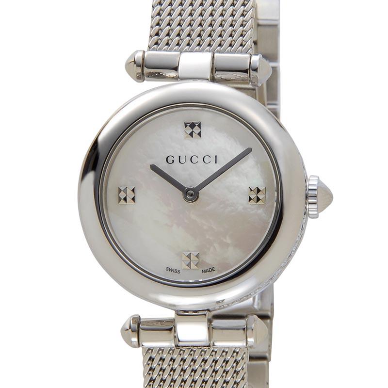 グッチ GUCCI 時計 YA141504 Diamantissima ディアマンティッシマ スモール ホワイトシェル レディース 腕時計 P10SP
