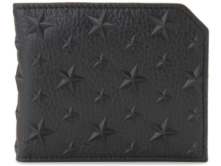 ジミーチュウ JIMMY CHOO 二つ折り財布 ALBANY EMG BK スタースタッズ ブラック メンズ P10SP