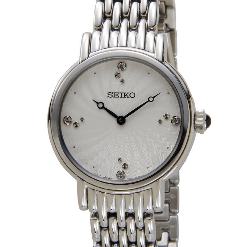 セイコー SEIKO SFQ805P1 SWAROVSKI スワロフスキー クリスタル クオーツ シルバー レディース 腕時計 新品