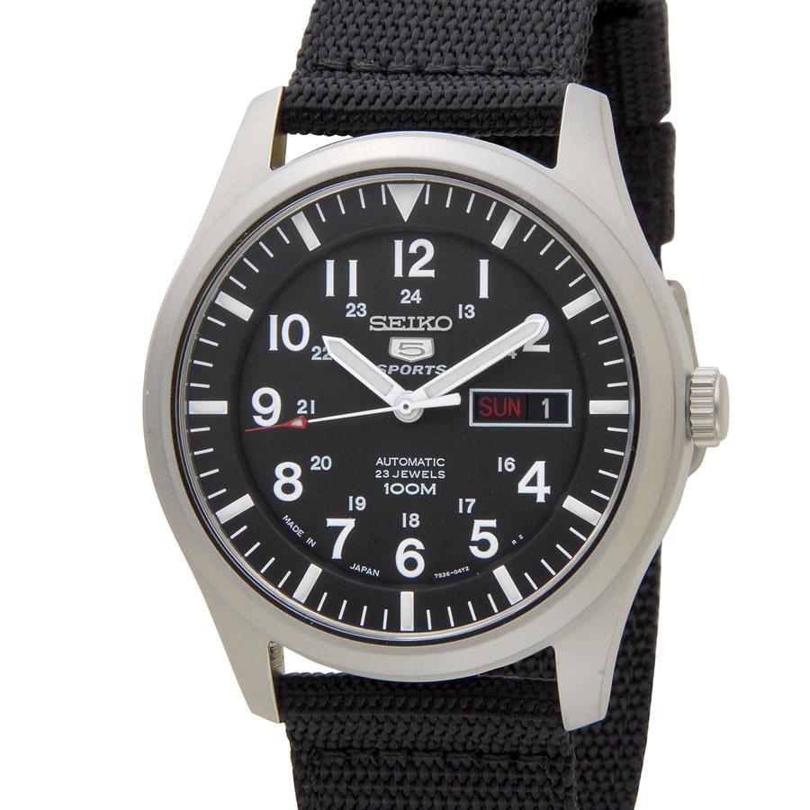セイコー SEIKO SNZG15J1 SEIKO5 セイコー5 ファイブ スポーツ ブラック メンズ 腕時計 P5SP