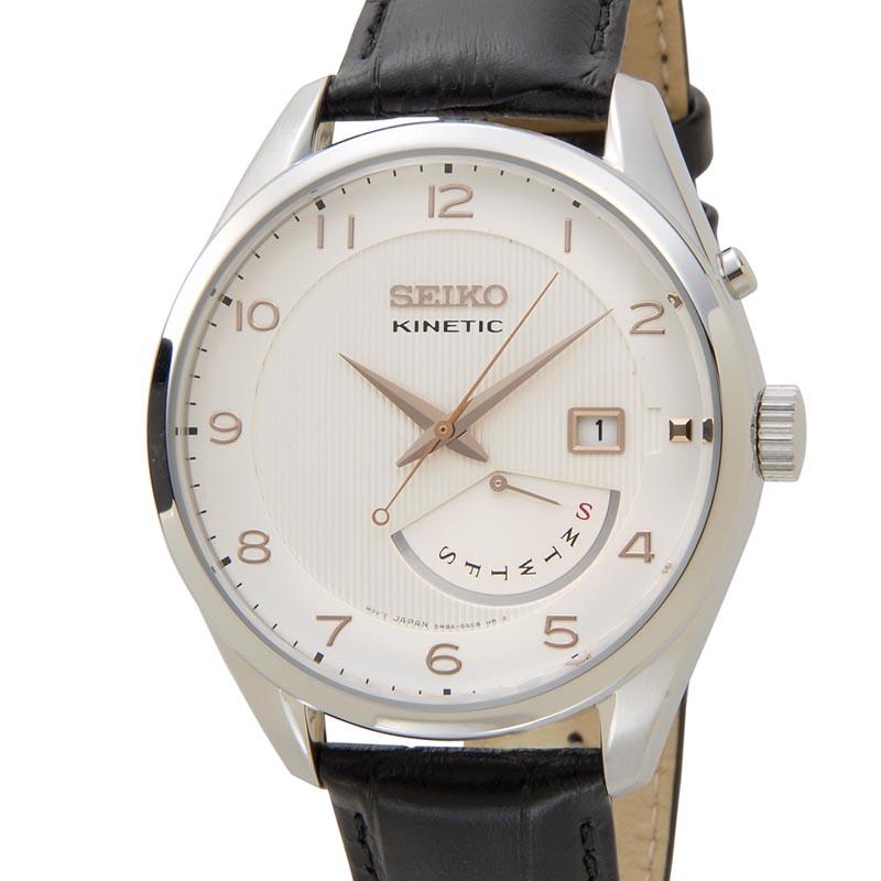 セイコー SEIKO キネティック SRN049P1 KINETIC クォーツ ホワイト メンズ 腕時計 新品