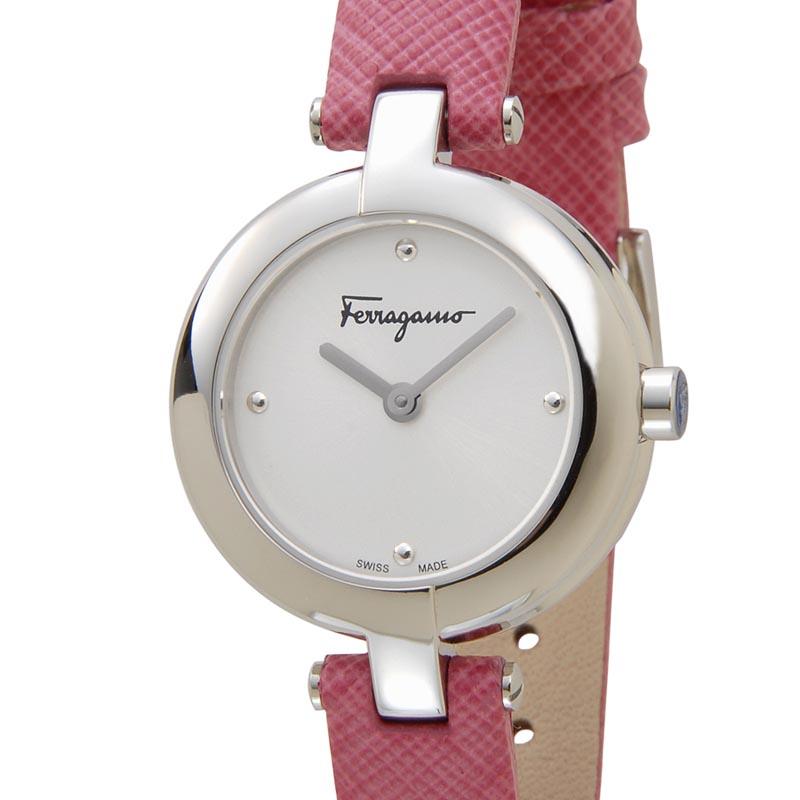 平成ファイナルセール フェラガモ Salvatore Ferragamo 時計 FAT010017 シルバー×ピンク レディース 腕時計 新品