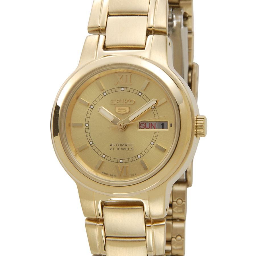 セイコー SEIKO レディース 腕時計 SYME58K1 SEIKO5 セイコー5 ファイブ AUTOMATIC オートマチック 自動巻き ゴールド P10SP