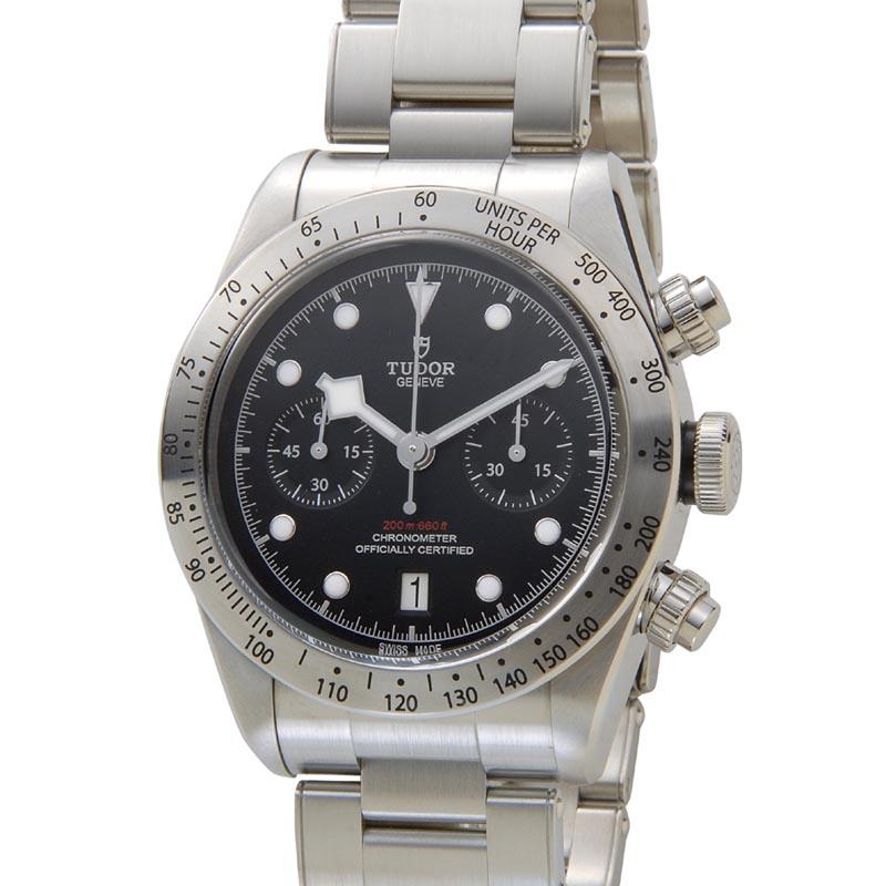 チュードル TUDOR 時計 79350 チュードル ヘリテージ ブラックベイ クロノグラフ 替えベルト付き ブラック メンズ 腕時計