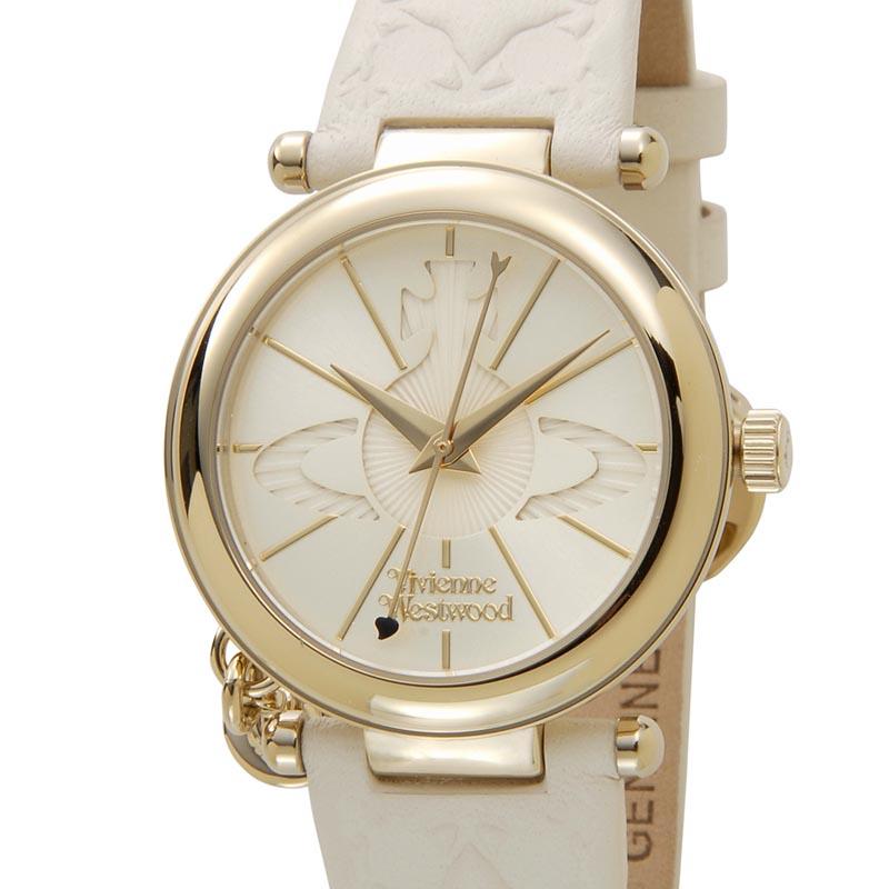 ヴィヴィアンウエストウッド VIVIENNE WESTWOOD 時計 006WHWH オーブ ゴールド×クリーム レディース 腕時計
