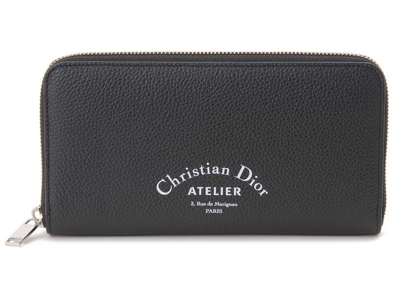 ディオールオム Dior Homme ラウンドファスナー 長財布 2ATBC011 XXX 03EU レザー ブラック メンズ 財布 新品