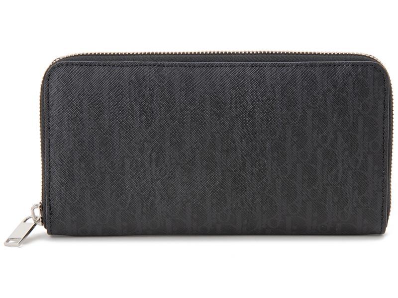 ディオールオム Dior Homme ラウンドファスナー 長財布 2BLBC011 YBT 03EU レザー ブラック メンズ 財布