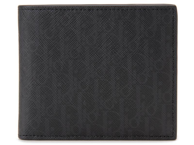 オータムフェア ディオールオム Dior Homme 二つ折り財布 2BLBC027 YBT 03E モノグラム レザー ブラック メンズ 財布