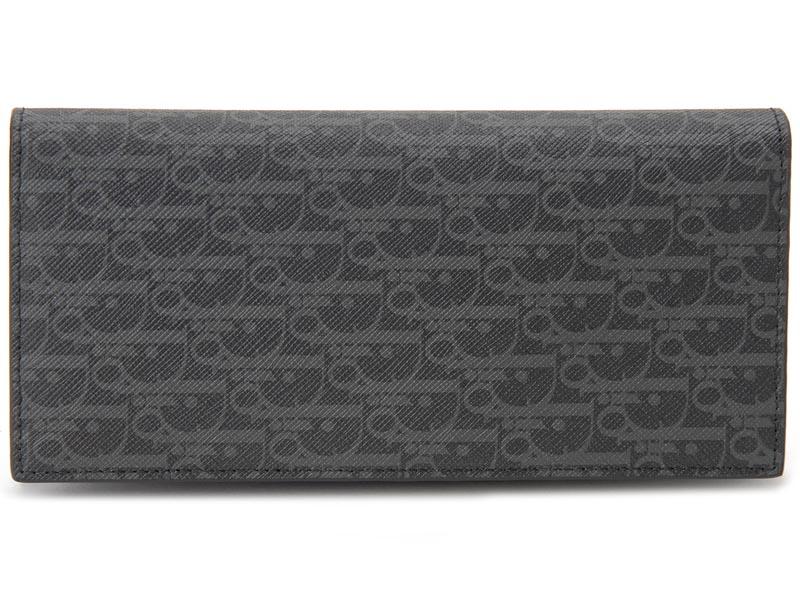 ディオールオム Dior Homme 長財布 2DEBC002 XIS H02G モノグラム レザー ダークグレー メンズ 財布
