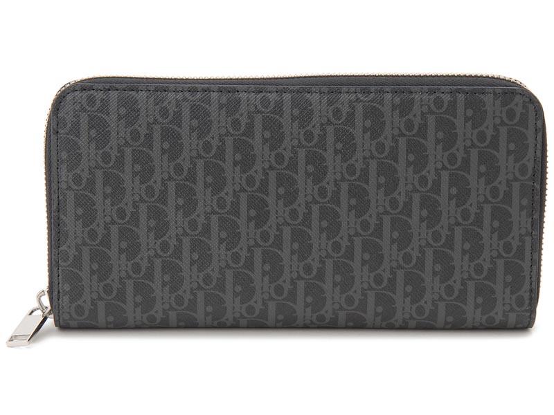 ディオールオム Dior Homme ラウンドファスナー 長財布 2DEBC011 XIS H02G レザー ダークグレー メンズ 財布