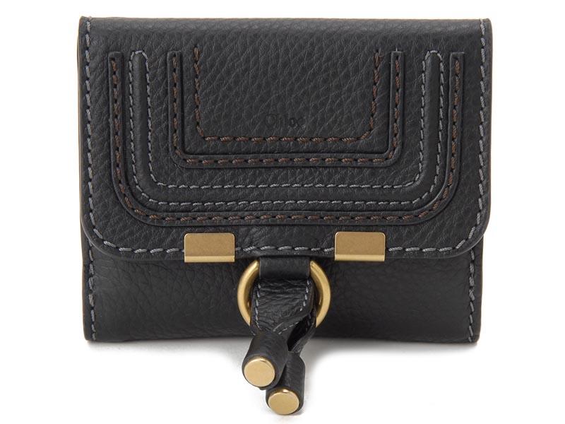 オータムフェア クロエ Chloe 二つ折り財布 10UP572-161-001 MARCIE マーシー ブラック レディース 財布