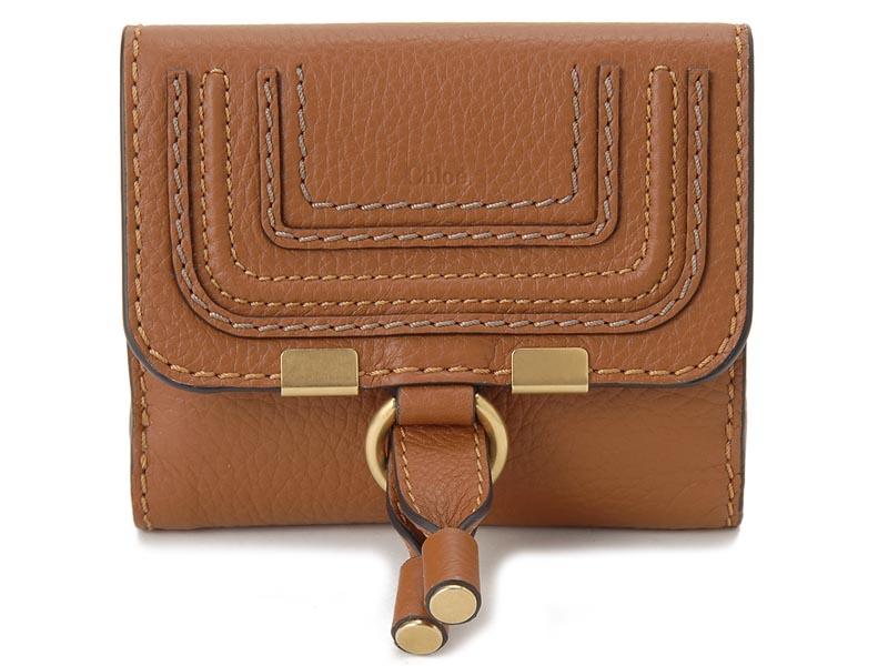 クロエ Chloe 二つ折り財布 10UP572-161-25M MARCIE マーシー タン ブラウン レディース 財布 【送料無料】