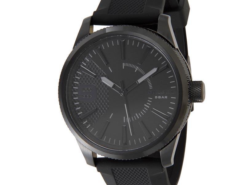クリアランスセール ディーゼル DIESEL 時計 DZ1807 Rasp ラスプ オールブラック ラバーベルト メンズ 腕時計 新品 【送料無料】