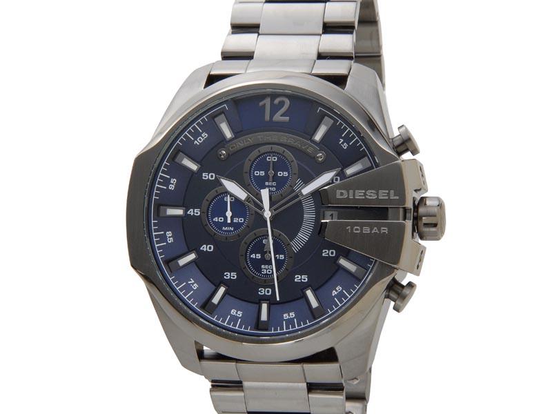ディーゼル DIESEL 時計 DZ4329 Mega Chief メガチーフ クロノグラフ ネイビー×ガンメタル メンズ 腕時計 新品