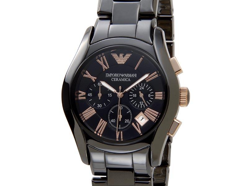 エンポリオアルマーニ EMPORIO ARMANI 時計 AR1410 CERAMICA セラミカ クロノグラフ ブラック メンズ 腕時計