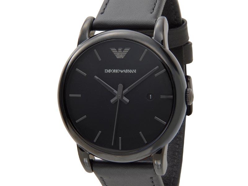エンポリオアルマーニ EMPORIO ARMANI 時計 AR1732 Classic Black クラシック ブラック レザーベルト メンズ 腕時計 新品