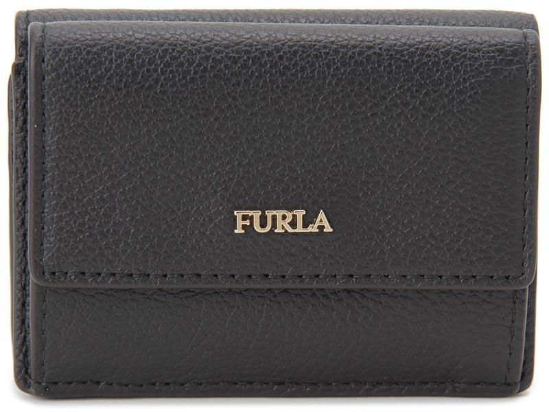 フルラ FURLA 三つ折り 財布 962286 BABYLON バビロン コンパクト 財布 ブラック レディース 新品