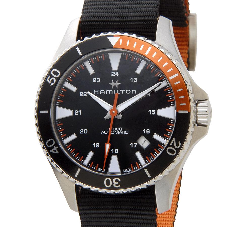 ハミルトン HAMILTON カーキ ネイビー H82305931 KHAKI スキューバ オート 自動巻き メンズ 腕時計