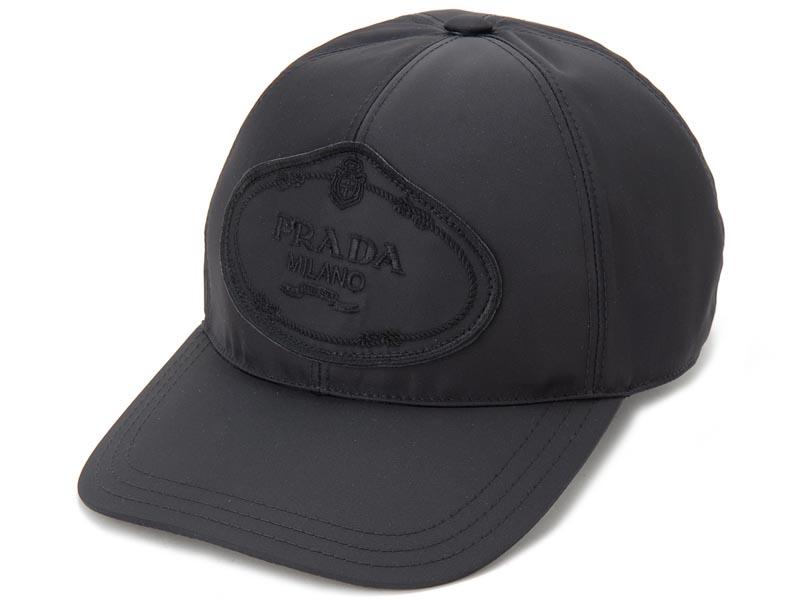 訳あり ロゴが歪んで付いている プラダ PRADA 帽子 ベースボールキャップ Sサイズ 1HC274 820 F0002 ナイロン キャップ 新品
