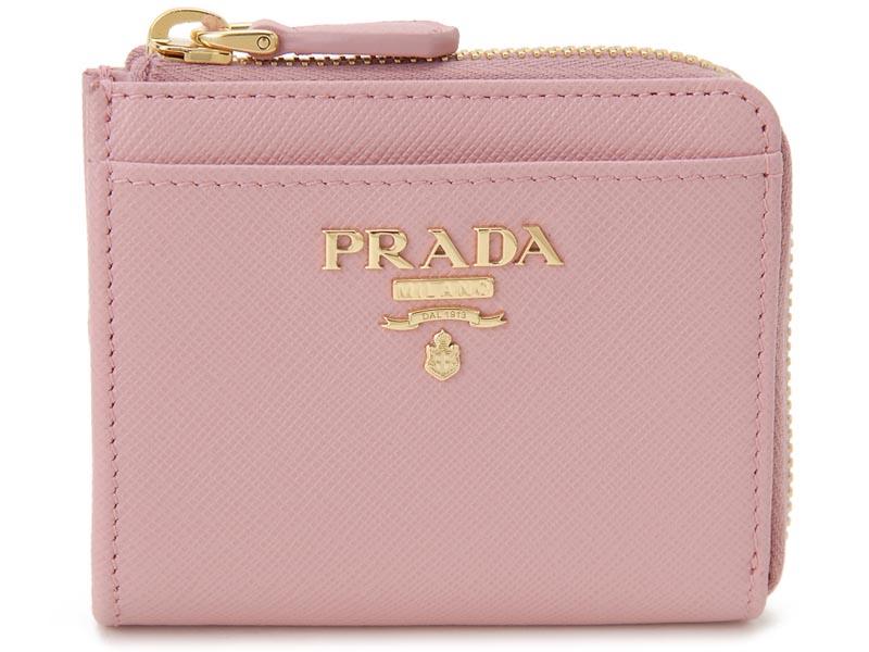 プラダ PRADA コインケース 小銭入れ 1ML025 QWA F0442 サフィアーノ コンパクト 財布 ピンク P10SP