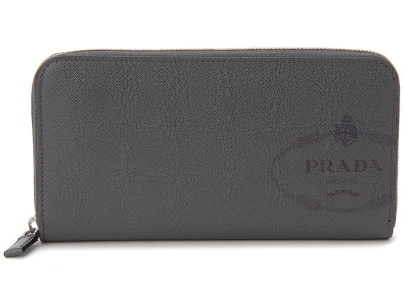 プラダ PRADA ラウンドファスナー 長財布 2ML317 2MB8 F0JQR サフィアーノ アントラチーテ メンズ P10SP