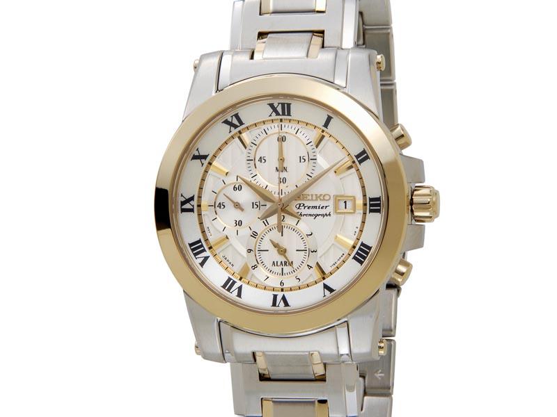 セイコー プルミエ SEIKO Premier メンズ 腕時計 SNAF32P1 クロノグラフ ウオッチ ゴールド