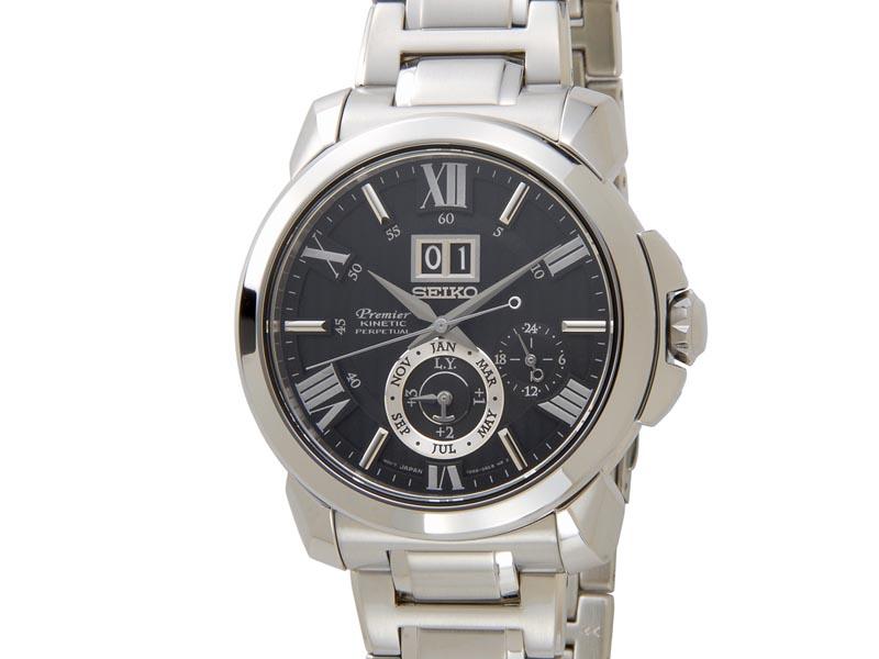 セイコー SEIKO プルミエ キネティック SNP141P1 Premier Kinetic ブラック メンズ 腕時計