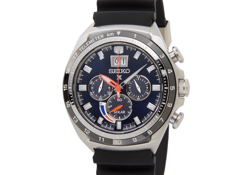 セイコー プロスペックス SEIKO PROSPEX メンズ 腕時計 SSC605P1 ソーラー クロノグラフ ウオッチ ネイビー
