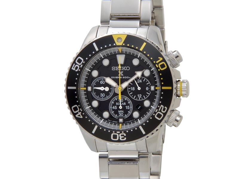 セイコー プロスペックス SEIKO PROSPEX メンズ 腕時計 SSC613P1 ソーラー クロノグラフ ウオッチ ブラック