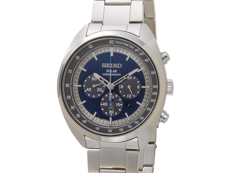 セイコー SEIKO ソーラー クロノグラフ SSC619P1 Solar ネイビー メンズ 腕時計 新品 【送料無料】 [ポイント5倍キャンペーン][8/3~8/17]